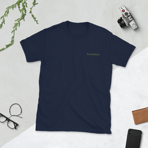 boardom Embroidered Short-Sleeve Unisex T-Shirt