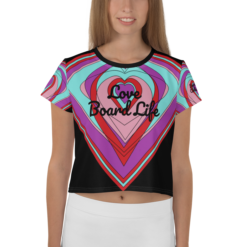 Love Board Life Crop Tee