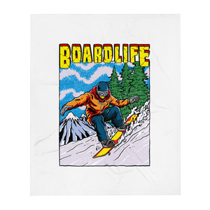 Board Life Snow Shred Throw Blanket