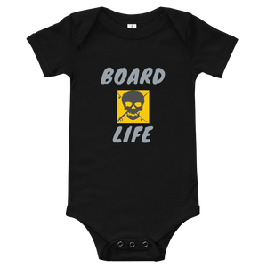 Board Life Golden Baby Onesie