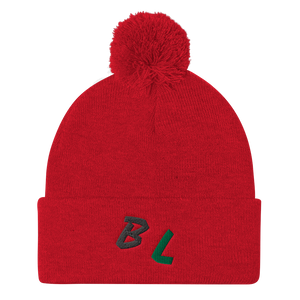BL is for Board Life Pom Pom Knit Cap
