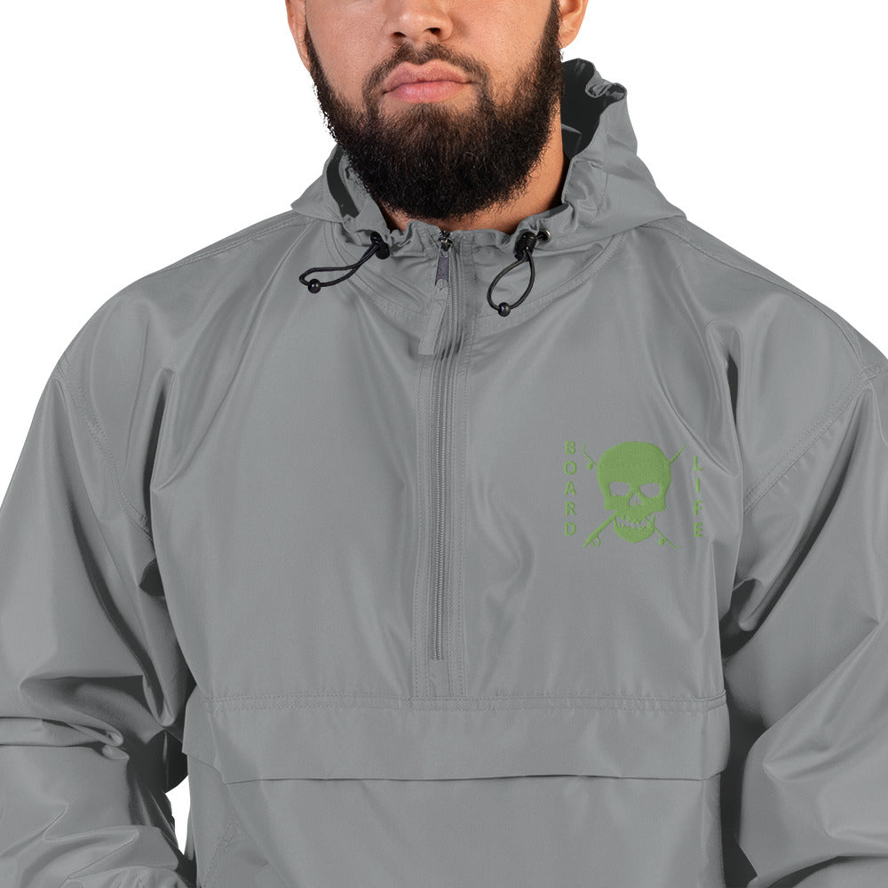 Board Life Embroidered Champion Collaboration Packable Jacket