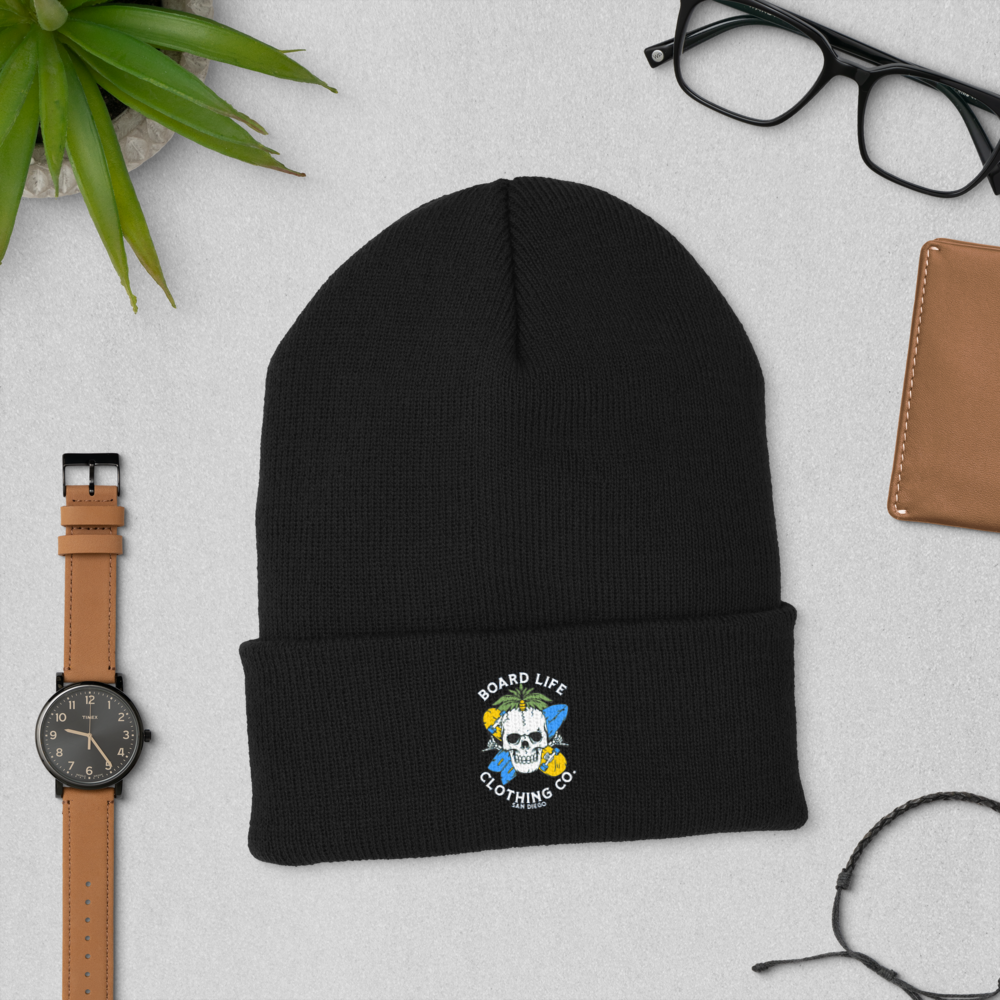 Board for Life Cuffed Beanie