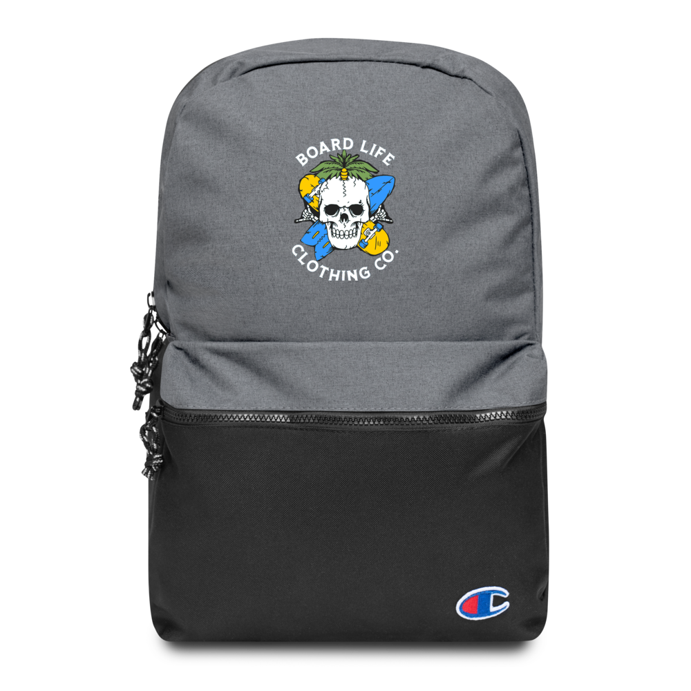 Board for Life Embroidered Champion Backpack