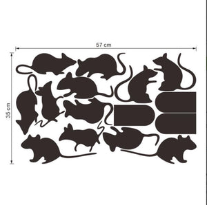 Funny Rats and Holes on walls or Stairs decals stickers - wall decals home decor