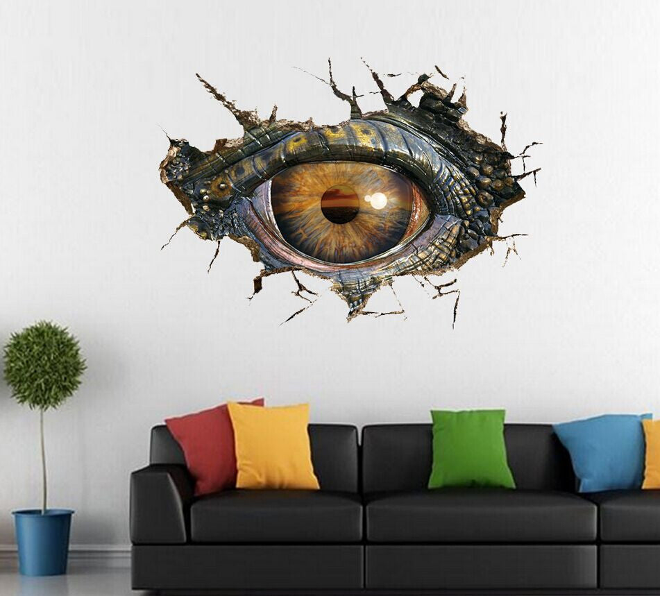 Big Dinosaur Eye 3D Wall Stickers decal for home decor