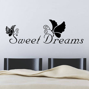 Sweet dreams butterfly Wall Stickers decal - wall decals home decor