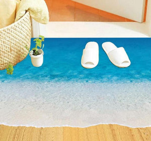 3D Beach Floor Waterproof Removable decal - wall decals home decor