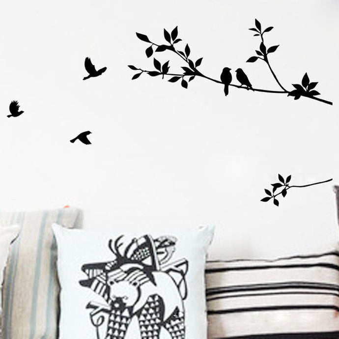 Tree Branch Black Bird Home Decoration Vinyl Wall Decal Removable - wall decals home decor