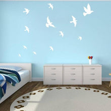 Beautiful black or white Birds flying great for Home Decor - wall decals home decor