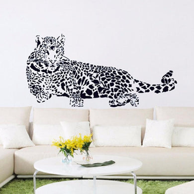 Huge Cheetah Leopard Jaguar Cat Wall Mural Vinyl Decal - wall decals home decor