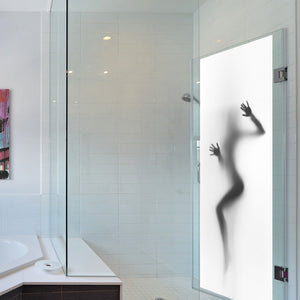 Sexy woman behind glass 38.5X200cm x 2pcs Wall Mural decal Vinyl for Door - wall decals home decor