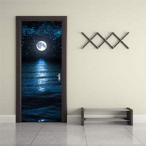 Sky and moon 3D Wall Sticker Decal Art Decor Vinyl - wall decals home decor