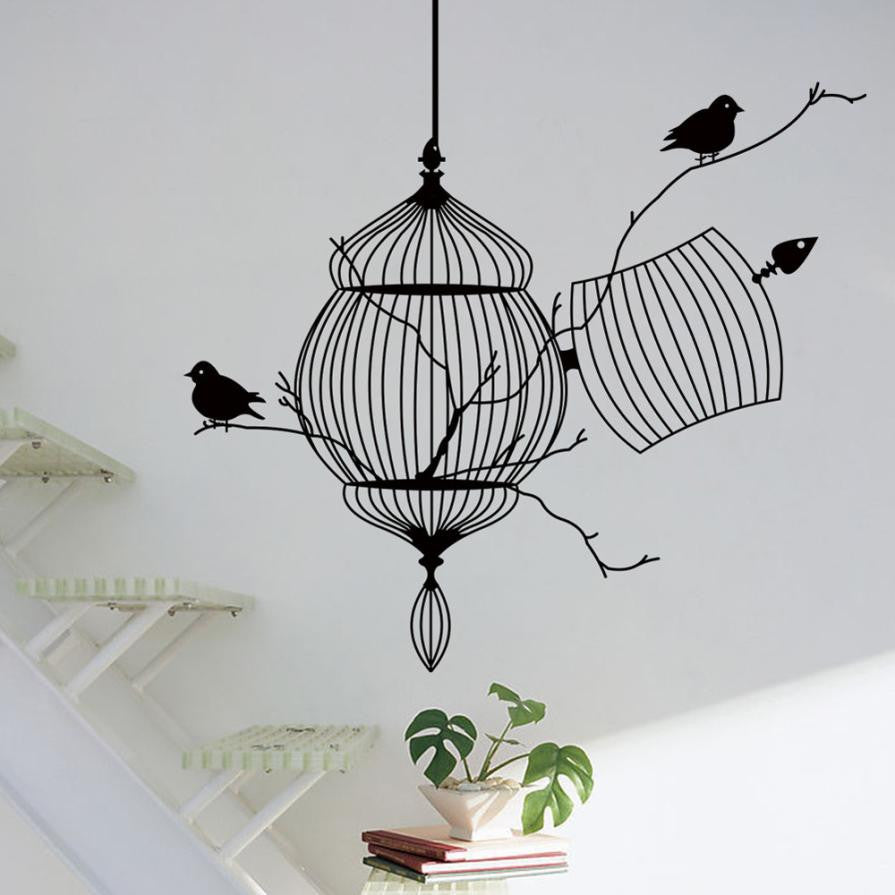 Branches in a birdcage with 2 birds wall art sticker decal branches in a birdcage with 2 birds wall art sticker decal wall decals home decor arubaitofo Gallery