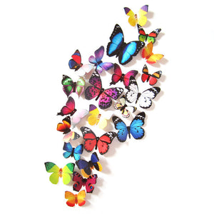 3D Butterflies Wall Sticker 19 pieces - wall decals home decor