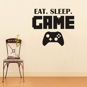 Eat sleep Game wall stickers decals for kids bedroom - wall decals home decor