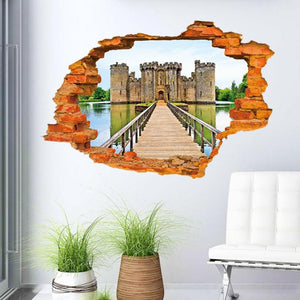 3D vintage castle Wall Decals for home decor - wall decals home decor