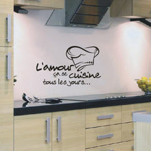 L'amour ca se cuisine wall stickers decals for kitchen decor - wall decals home decor