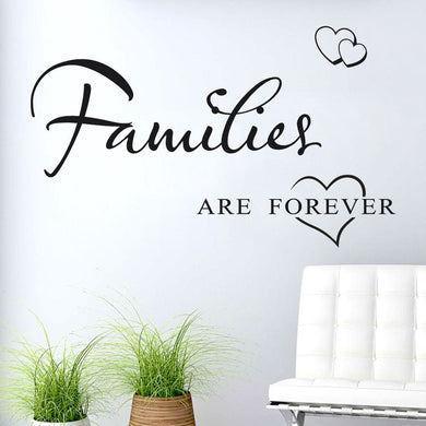 Families are forever love wall stickers decals - wall decals home decor