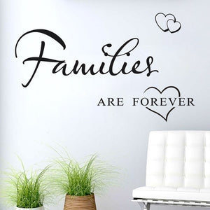 Families are forever love wall stickers decals for home decor - wall decals home decor