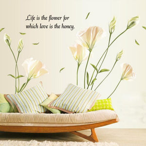 Peaceful Life is the Flower beautiful wall decal - wall decals home decor