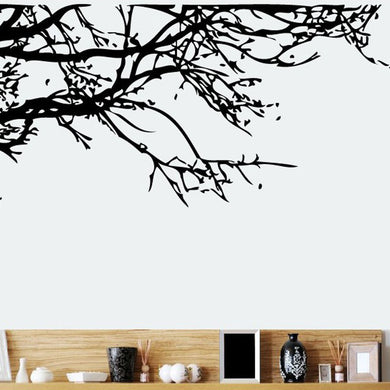 Tree Branch Black Art Removable Wall Stickers Decals - wall decals home decor