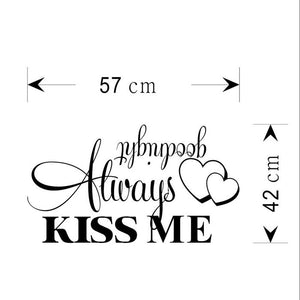 Always Kiss Me Goodnight Wall Sticker Decal - wall decals home decor