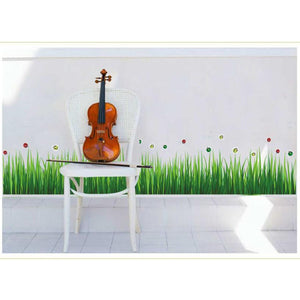 Grass Skirting Stickers decal with ladybugs decor - wall decals home decor