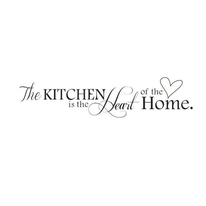 Kitchen is the heart of the home wall decal sticker decor - wall decals home decor