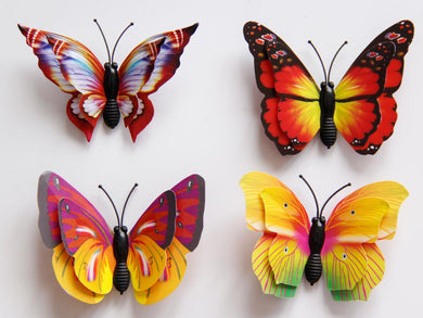 12 X 3D Butterfly Fridge magnets - wall decals home decor