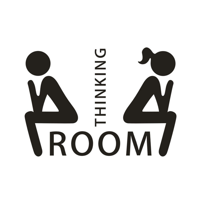 Thinking Room Toilet Seat Bathroom Sticker Home Wall Decal Art - wall decals home decor