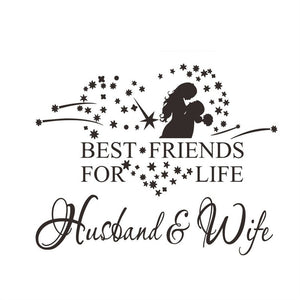 Husband & Wife Art Wall Sticker decal 58x46cm - wall decals home decor