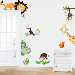 Forest Animals Wall decal Art great for Kids Baby Room - wall decals home decor