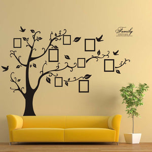 Family Tree with frames 180*250cm Wall Decal for home decor - wall decals home decor