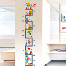 Robot Height Measure For Kids Children Room Growth Chart 180cm - wall decals home decor
