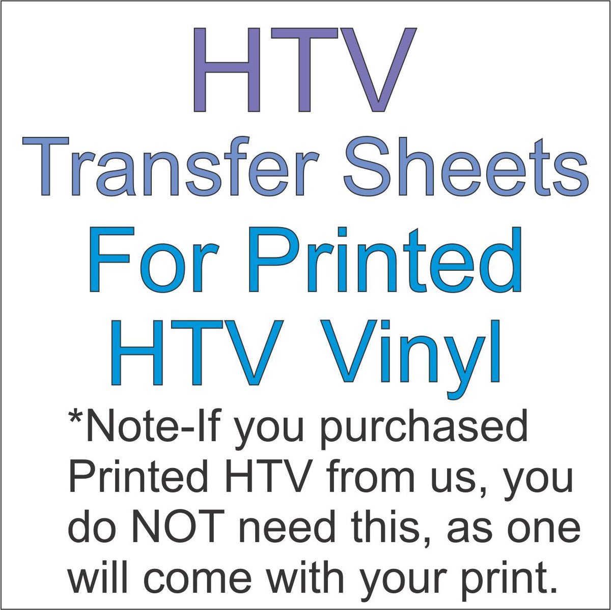 Printed HTV Transfer Sheets 12x12 – CraftCutterSupply com