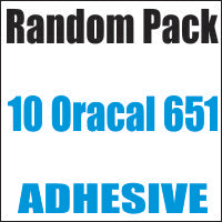 Oracal 651 Random 10 Color Pack 12x12 Sheets - CraftCutterSupply.com