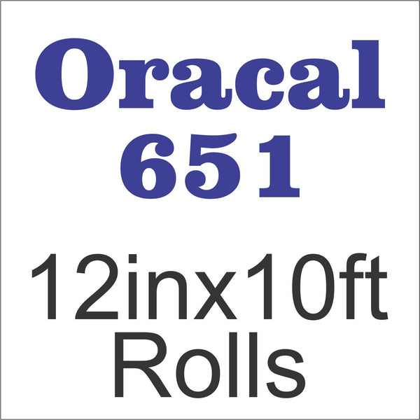 Oracal® 651™ 12in x 10ft Rolls - CraftCutterSupply.com