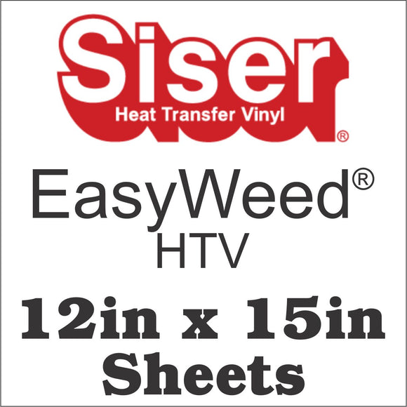 Siser® Easyweed® HTV 12x15 Sheets - CraftCutterSupply.com