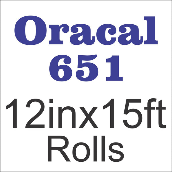 Oracal® 651™ 12in x 15ft Rolls - CraftCutterSupply.com