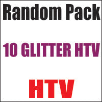 Random 10 Pack of Glitter Heat Transfer Vinyl 12x20 Sheets - CraftCutterSupply.com