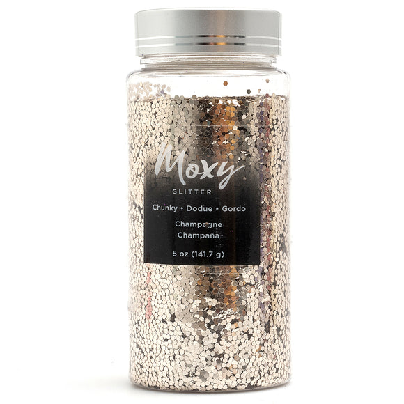 Moxy Chunky Glitter-Champagne 5oz Bottle - CraftCutterSupply.com