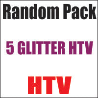 Random 5 Pack of Glitter Heat Transfer Vinyl 12x20 Sheets - CraftCutterSupply.com
