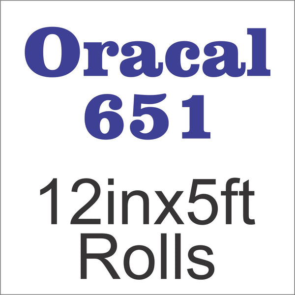 Oracal® 651™ 12in x 5ft Rolls - CraftCutterSupply.com