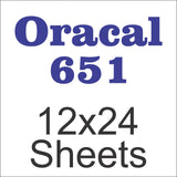 Oracal® 651™ 12in x 24in Sheets - CraftCutterSupply.com