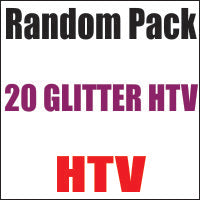 Random 20 Pack of Glitter Heat Transfer Vinyl 12x20 Sheets - CraftCutterSupply.com