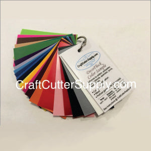 Premium DecoFlock® HTV Color Sample Ring - CraftCutterSupply.com