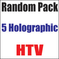 Random 5 pack of Holographic Heat Transfer Vinyl 12x20 Sheets