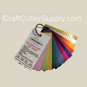 Electric HTV Color Sample Ring 18 colors - CraftCutterSupply.com