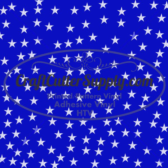 Blue With White Stars 12x12 - CraftCutterSupply.com